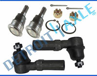 Front Lower Ball Joints + (2) Outer Tie Rod Ends for 2000-2006 Nissan Sentra
