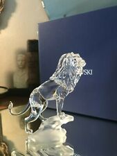 "Swarovski Crystal Lion on Rock ""Rare Encounters"""