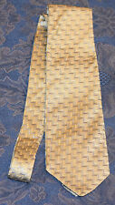 GEOFFREY BEENE Gold/Blue Geometric MEN'S NECK TIE, Made in ITALY !FREE SHIPPING!
