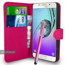 Pink Wallet Case PU Leather Book Cover For Samsung Galaxy A3 A310 2016 Mobile