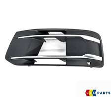 NEW GENUINE AUDI Q7 16-19 FRONT BUMPER LOWER ANTHRACITE CHROME GRILL LEFT N/S