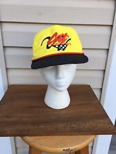 VINTAGE Cat Motorsports Caterpillar Racing Yellow Snapback Hat / Cap