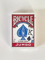 1 Sealed Deck RED Bicycle Poker Playing Cards Jumbo Index 808 Rider back