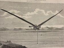 AIRIAL STEAM MACHINE PRINT (1868) DESIGNED BY JOSEPH KAUFMANN - ENGINEERING MAG