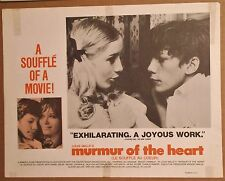 MURMUR of the HEART 1971 Lobby Card/Poster ~ JACQUELINE CHAUVAUD~Benoit Ferreux