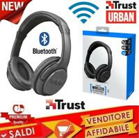 CUFFIA BLUETOOTH WIRELESS TRUST URBAN HEADPHONES STEREO MICROFONO PC SMARTPHONE