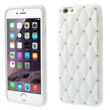 "Apple iPhone 6 4.7"" silicona brillo bling Rhombus, funda protectora, funda, protección blanco"