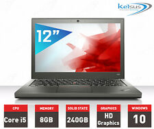 Lenovo ThinkPad X240 Laptop Core i5 4th GEN 8GB RAM 240GB SSD Windows 10 Webcam