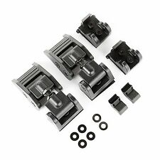 Rugged Ridge Jeep Wrangler JK 07-17 Aluminum Hood Latch Textured Black (Pair)