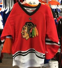 Chicago Blackhawks Age 4-7 Child NHL Hockey Jersey Home Red Black Reebok New