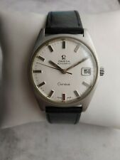 Vintage Omega Geneve Calibre 565 Automatic Date Stainless Steel Men's Watch