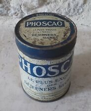Vintage french tin box advertising PHOSCAO Cocoa France ad metal antique