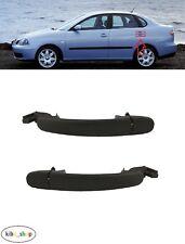 SEAT CORDOBA 6L 2002 - 2009 2X REAR DOOR OUTSIDE BLACK HANDLES PAIR LEFT + RIGHT