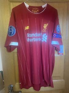 Liverpool 6-Times Champions League Winners Shirt Size XL 2019-2020 BNWT