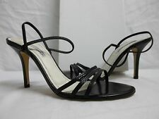 Charles David Size 10 M Opera Black Open Toe Heels New Womens Shoes Leather