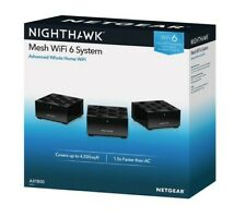 Netgear Nighthawk Mesh WiFi 6 System(AX1800) Black (3pack)  Whole Home WiFi
