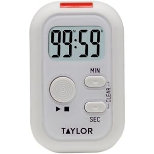 Taylor Digital Clip Timer with Red Flashing Light Sound Vibration Ships from USA