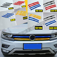 For Volkswagen VW Tiguan 2017-2019 ABS Front Grille Trim Stripe Grille Bar Cover