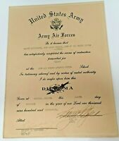 WWII 1944 Army Air Forces Advanced Flying Diploma Douglas Arizona