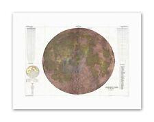 MAPPA LUNARE dello spazio fisico MOON divisioni STAMPE SU TELA ART
