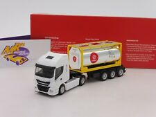"Herpa 310604 #  Iveco Stralis XP Tankcontainer-Sattelzug "" Eurotrainer "" 1:87"