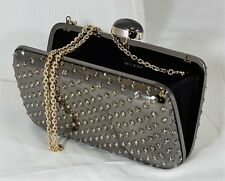 Italian Swarovski crystal and palladium evening clutch bag; FACTORY PRICE ITALY