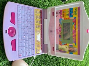 Barbie B-Book Laptop Toy Computer Mouse Works Rare Vintage. Untested, no charger