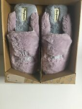Dearfoams - 'No Drama Mama' Slide Slippers - Frosted Plum XL (11-12)