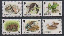 Jersey - 1997, Wildlife Preservation, 6th series set - MNH - SG 824/9