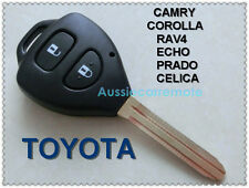 TOYOTA 2 Button Remote Key Shell CAMRY COROLLA Yaris RAV4 ECHO PRADO Hilux