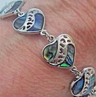 PAUA Shell abalone Nature's 1 Link Bracelet Linked Wheeler Mfg. lkb 028 Heart
