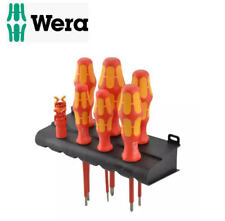 WERA Kraftform 6 VDE Insulated Phillips & Slot Screwdriver Set + Grippers,344589