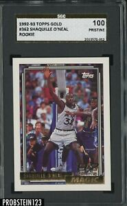 1992-93 Topps Gold #362 Shaquille O'Neal RC Rookie SGC 100 PRISTINE GOLD LABEL