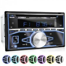 AUTORADIO MIT CD-PLAYER BLUETOOTH FREISPECHEINRICHTUNG MICRO-SD USB RDS AUX 2DIN