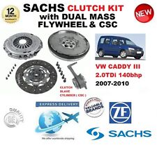 FOR VW CADDY III 2.0 TDi 140 bhp CLUTCH KIT 2007-2010 with FLYWHEEL CSC BOLTS