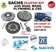 pour VW CADDY III 2.0 TDI 140 BHP KIT EMBRAYAGE 2007-2010 Avec Volant moteur CSC
