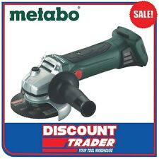 Metabo 18V 125mm Cordless Angle Grinder Bare Tool W 18 LTX 125 Quick 6.02174.85