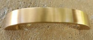Brushed BRASS CABINET DRAWER PULL Handle Stanley Solid Heavy NEW Old Stock