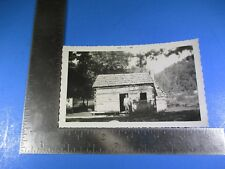 Vintage October 1956 Photograph of Abraham Lincoln's Childhood Cottage S5526