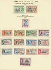 Turks and Caicos Islands used 1955-1964 on 2 pages