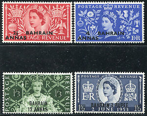 BAHRAIN #92-95 Nice Original Gum Set- QEII Coronation - B0129