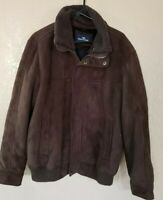 Dockers Mens Brown Suede Coat size Large