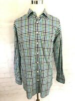 Peter Millar Men's XL Multi-Color Gingham Check Plaid Long Sleeve Shirt