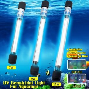 7-11W Submersible Aquarium Pond Fish Tank Light UV Sterilizer Water Clean Lamp