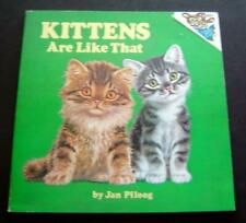 1976 Kittens Are Like That Childrens Book by Jan Pfloog Softcover Random House