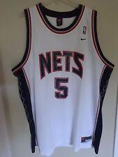 Vintage Nike Jason Kidd # 5 New Jersey Nets Mens 3XL Premium Stitched Jersey