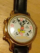 Vtg Lorus Disney Mickey Mouse Musical watch, Plays 2 tunes running new battery A