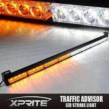 """Xprite 32 LED 35"""" White Amber Emergency Traffic Advisor Flash Strobe Light Bar"""