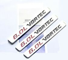 3x OEM 6.0L VORTEC emblem Badge 3D for Silverado Chevy 1500 2500 HD FU Chrome