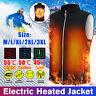Soft Unisex Men Women USB Electric Vest Jacket Thermal Warm Heat Pad USA